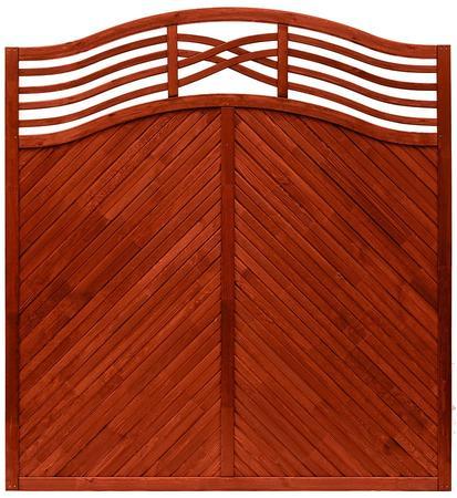 Boazeryjny płot drewniany Malaga Teak ANDREWEX