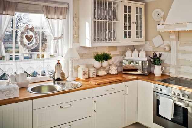 Zobacz galerię zdjęć Aranżacja kuchni Meble kuchenne – porządek i organizacj   -> Kuchnia Rustykalna Kafelki