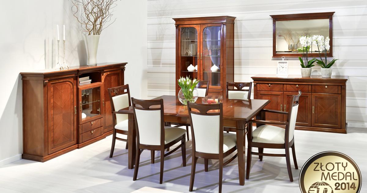klasyczne meble do salonu i jadalni verdi klose sprawdź